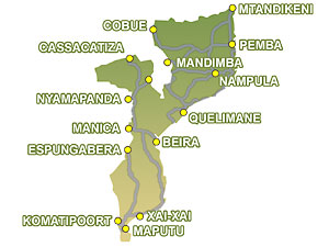 Mozambique Bass Fishing Areas